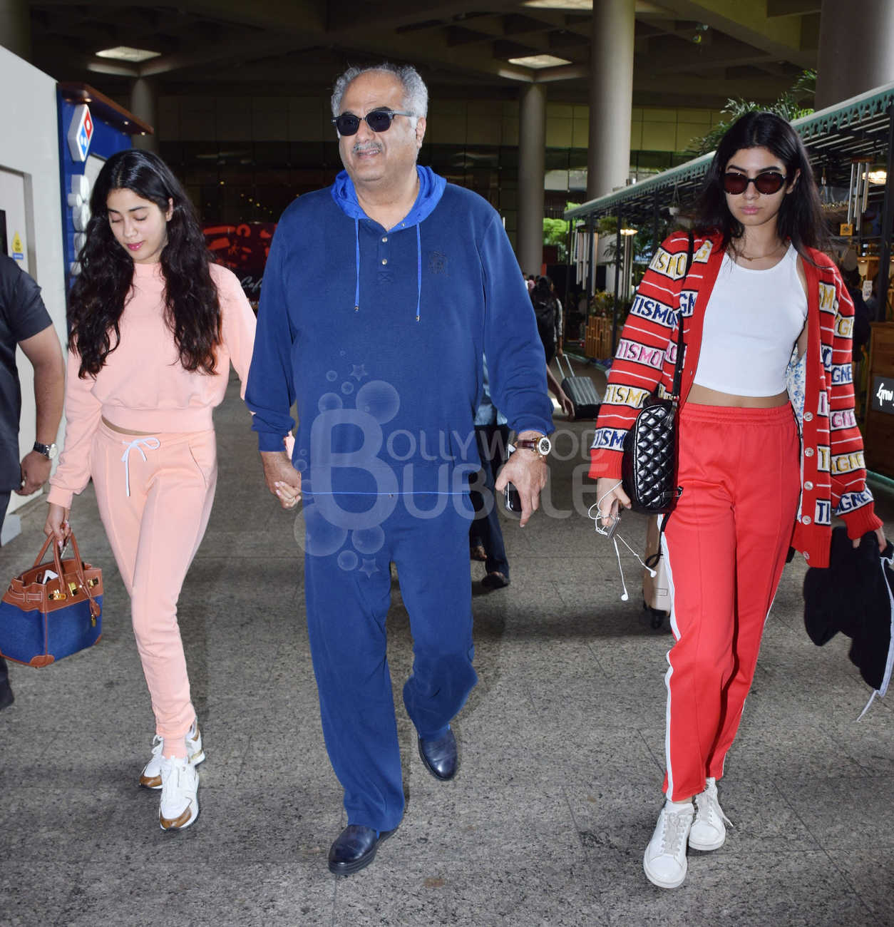 Janhvi Kapoor, Boney Kapoor and Khushi Kapoor
