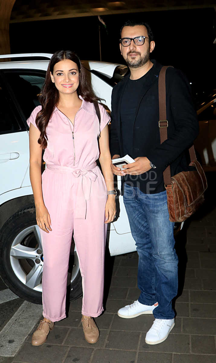 Dia Mirza and husband Sahil Sangha