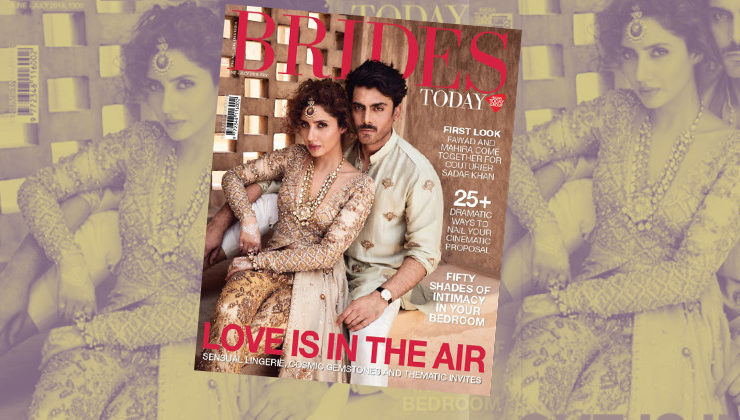 'Humsafar' duo Fawad Khan and Mahira Khan make a royal statement on the cover of Brides Today!