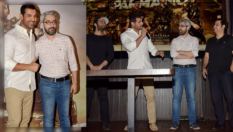 In Pics: John Abraham celebrates the success of 'Parmanu' with his team