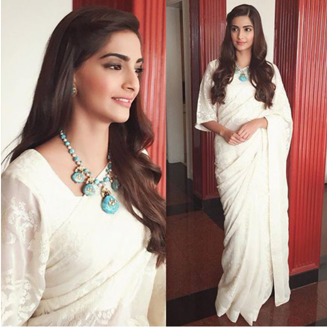Sonam Kapoor during 'Prem Ratan Dhan Payo' promotions