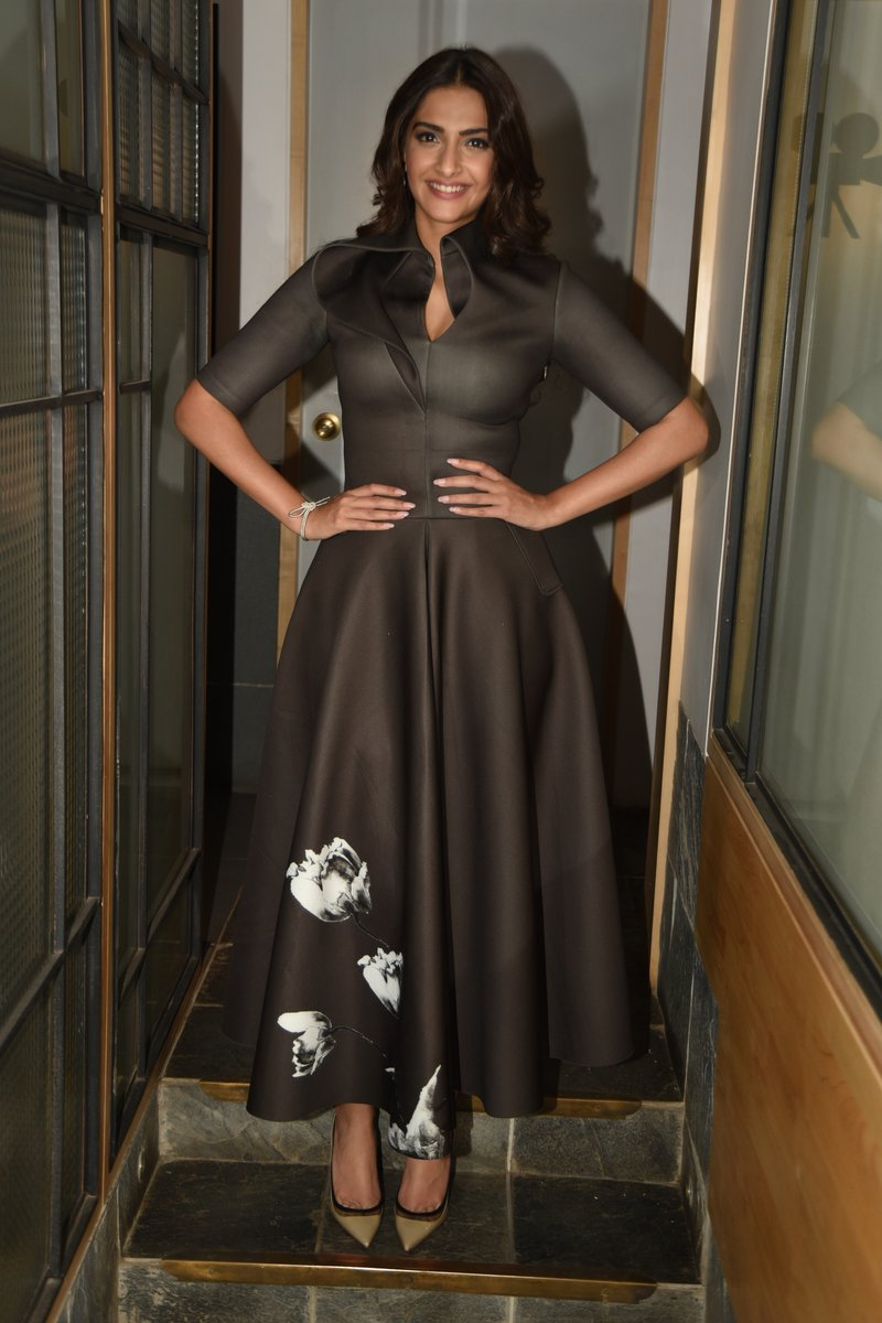 Sonam Kapoor during ''Neerja' promotions