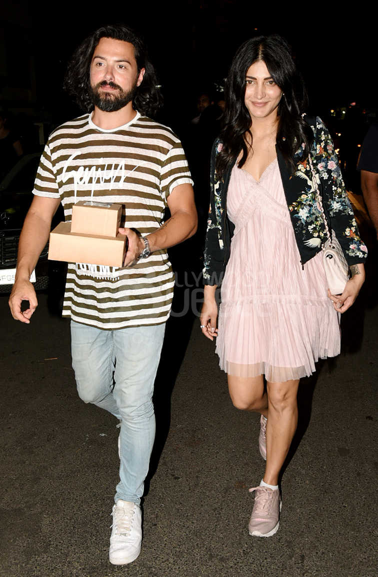 Shruti Hassan and BF Michael Corsale