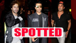 Post IIFA: Varun Dhawan,Bobby Deol and Karan Johar are back in the city