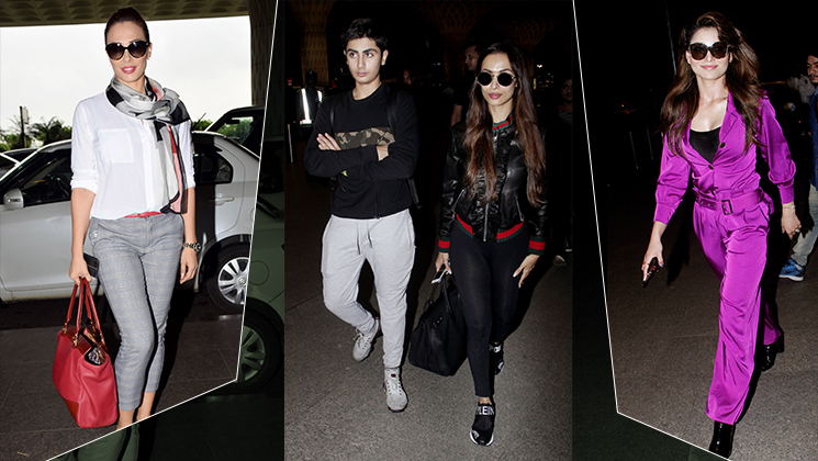 Airport Spotting: Malaika Arora, Kriti Sanon and others redefine elegance