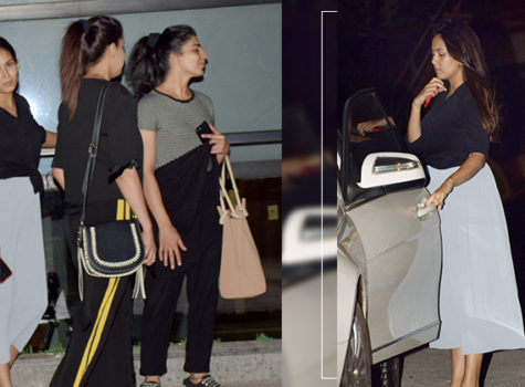 Pregnant Mira Rajput snapped at an outing with friends
