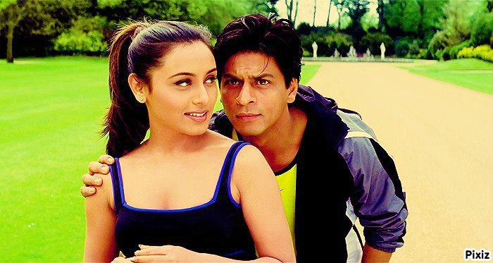 Rani Mukerji and Shah Rukh Khan in K3G