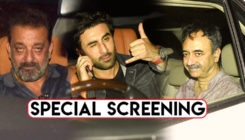 Sanjay Dutt, Ranbir Kapoor, Manisha and others attend the special screening of 'Sanju'