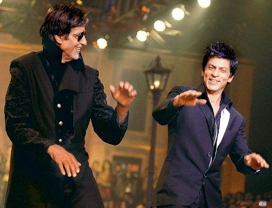 Shah Rukh Khan and Amitabh Bachchan in Bhootnath Returns
