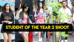 Tiger Shroff, Ananya Panday and Tara Sutaria SPOTTED on the sets of 'Student Of The Year 2'