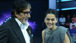 'Pink' co-stars Amitabh Bachchan and Taapsee Pannu bond on the sets of 'Badla'
