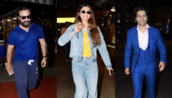 Varun, Saif, Daisy put up a cool-blue avatar at the Airport