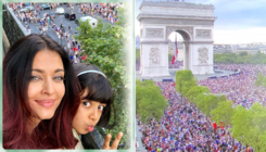 In Pics: Aishwarya captures the victory parade after France wins the FIFA cup