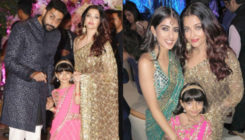 Akash Ambani-Shloka Mehta's engagement: Aishwarya Rai strikes a pose with family and Navya