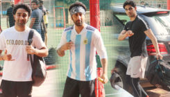 In Pics: Ranbir Kapoor, Ahan Shetty and others enjoy a game of football