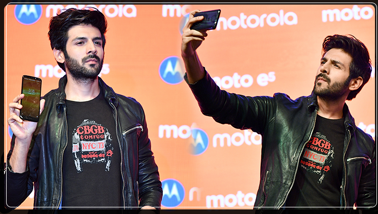 In Pics: 'Tech-friendly' Kartik Aaryan launches a phone in style!