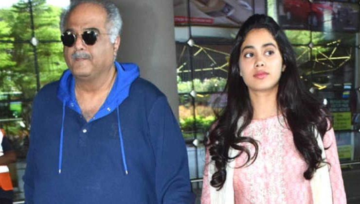 Janhvi and Boney Kapoor get teary-eyed after watching 'Mr. India' on Sridevi's birth anniversary