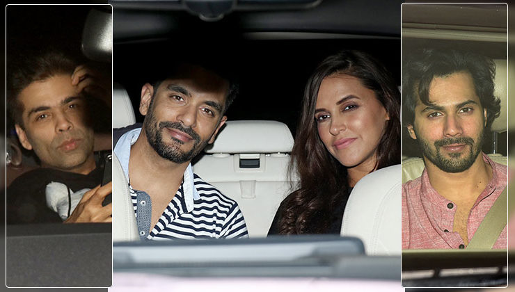 Karan Johar hosts a birthday bash for Neha Dhupia; Varun Dhawan, Kiara Advani and others attend