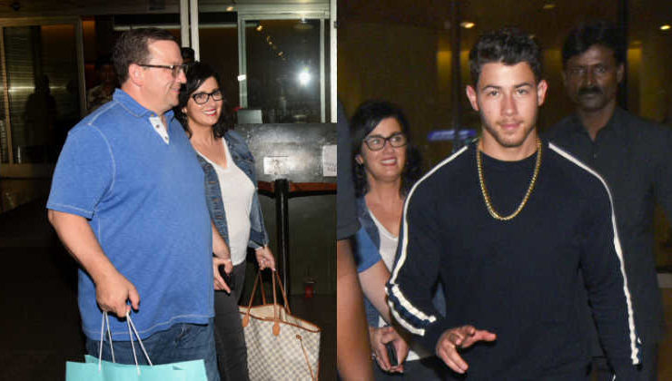 In Pics: Nick Jonas arrives in Mumbai with his family in tow