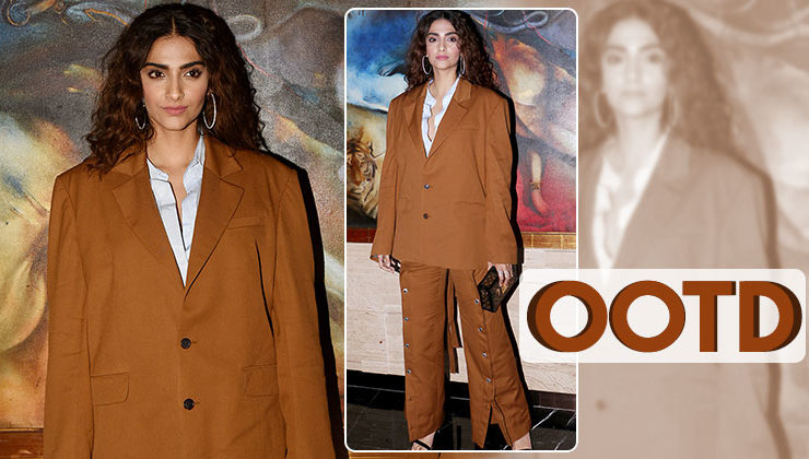 OOTD: Sonam Kapoor's baggy pantsuit is a must in your wardrobe!