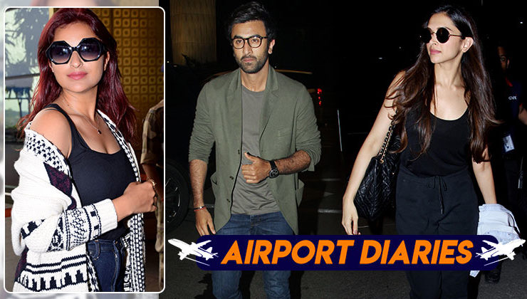 Ranbir Kapoor, Parineeti Chopra and Deepika Padukone get snapped at airport