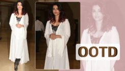 OOTD: Aishwarya looks like a dream in this asymmetrical kaftan style jacket