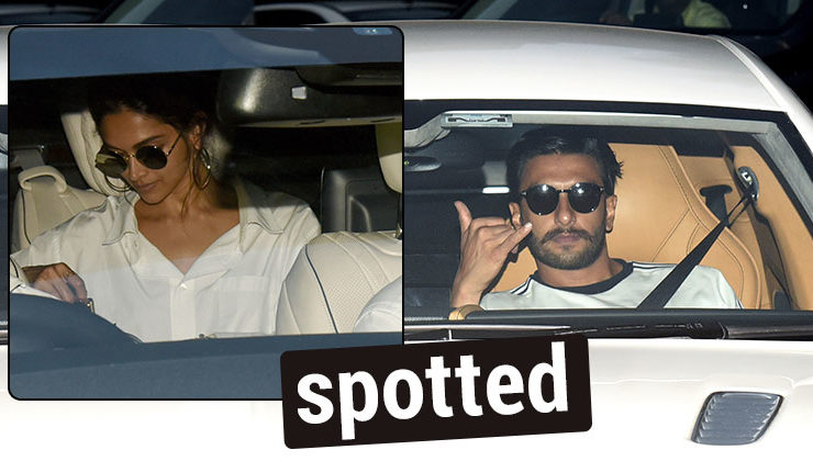 In Pics: Ranveer and Deepika spotted twinning and winning in white