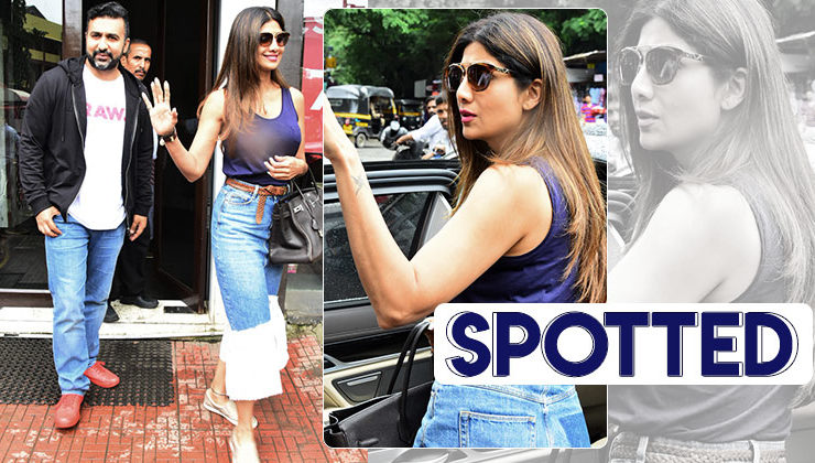 Raj Kundra and Shilpa Shetty spotted in the city- view pics