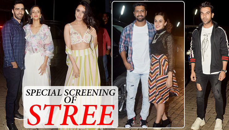 Bollywood celebs attend the special screening of 'Stree'
