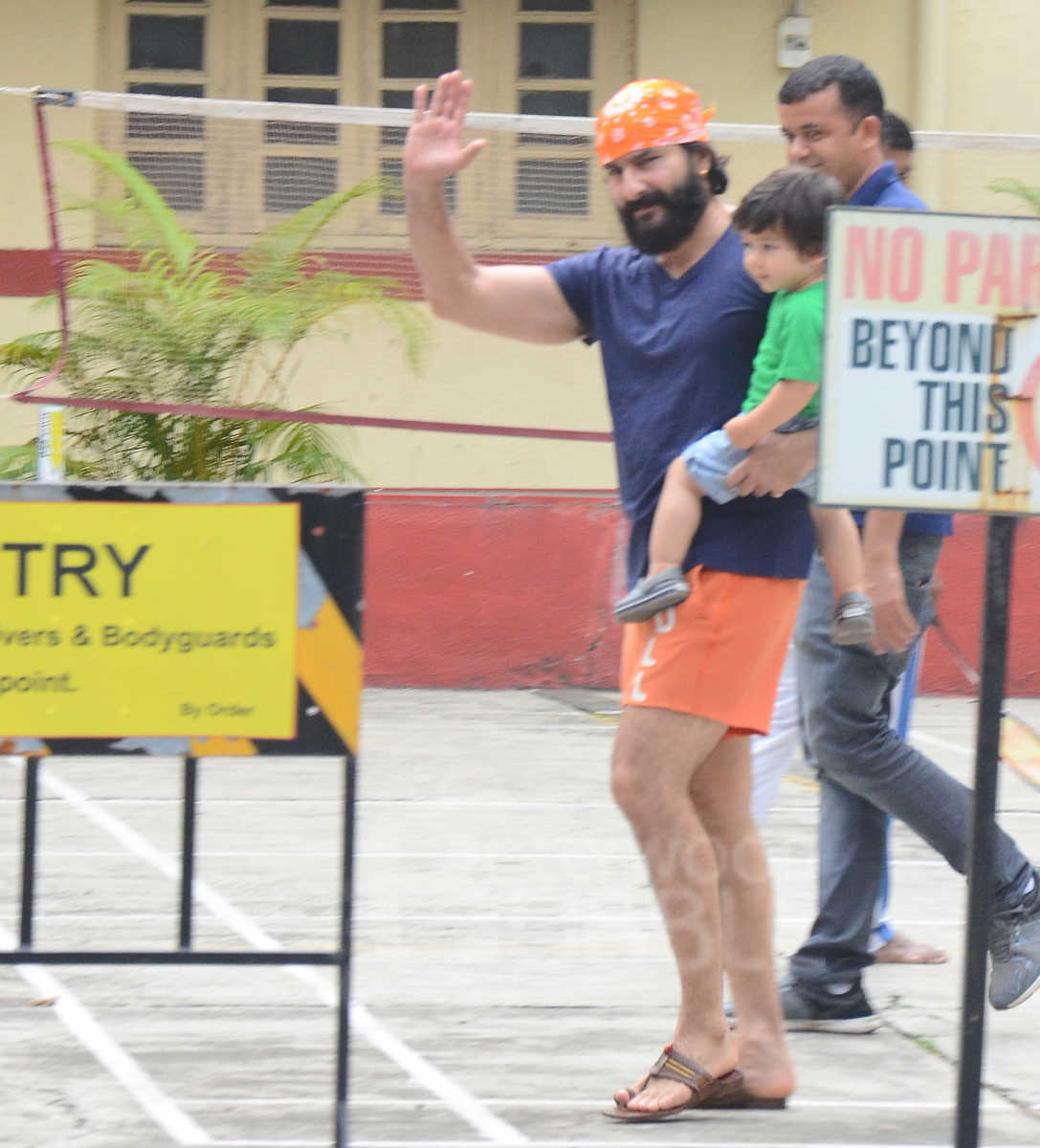 Saif Ali Khan and Taimur