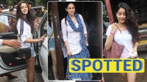 Photos: Janhvi Kapoor and clan enjoy a lunch outing in Bandra