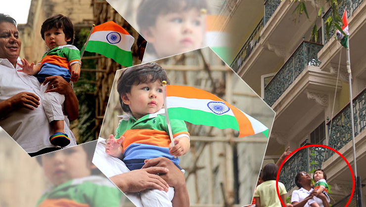 Baby Taimur hoists Indian Flag on Independence Day- view pics