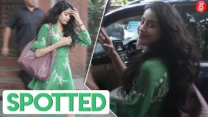 Gorgeous Janhvi Kapoor spotted at Amrapali Jewellers in Juhu