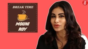 Watch: Mouni Roy's on point expression game at 'Break Time'