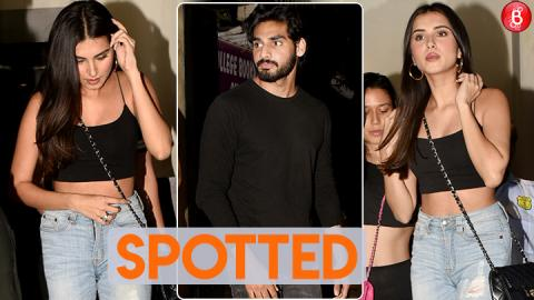 Tara Sutaria and Ahan Shetty spotted on a dinner outing