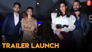 Saif Ali Khan launched the trailer of 'Baazaar' alongside the star casts at 'Bombay Stock Exchange'
