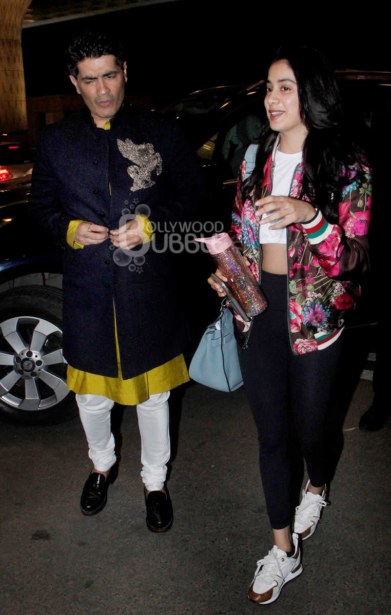 Manish Malhotra and Janhvi Kapoor
