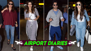 Spotted: Varun Dhawan, Anushka Sharma and others were seen at the Mumbai airport