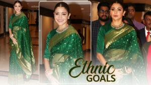 Photos: Anushka Sharma gave us major ethnic goals in her green saree