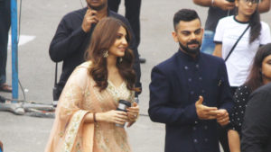 Spotted: Anushka Sharma with hubby Virat Kohli post an ad shoot
