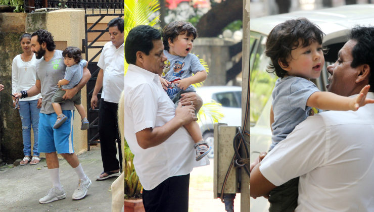 Cuteness Alert: Taimur saying bye to his father Saif Ali Khan is the cutest thing on the internet today
