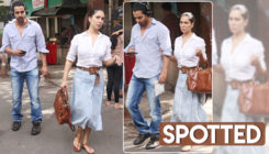 In pics: Rumoured couple Harshvardhan Rane and Kim Sharma spotted walking hand-in-hand