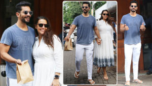 See pics: Angad Bedi and Neha Dhupia go on a lunch date in Bandra