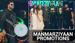 Taapsee Pannu, Abhishek Bachchan and Vicky Kaushal rocked their Delhi tour for 'Manmarziyaan'