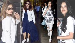 Pics: Janhvi Kapoor, Raveena Tandon and others spotted at the airport