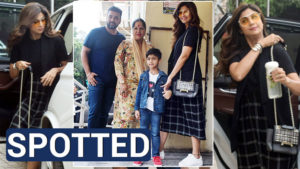 In pics: Shilpa Shetty and Raj Kundra go on a movie date with family