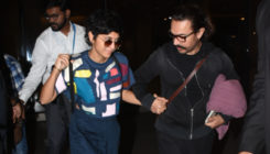 Watch: Despite holding Aamir Khan's hand, wife Kiran Rao stumbles and falls down at the airport