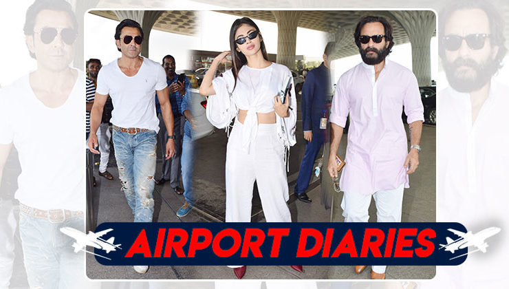 Pics: Mouni Roy, Saif Ali Khan and Bobby Deol spotted at the airport
