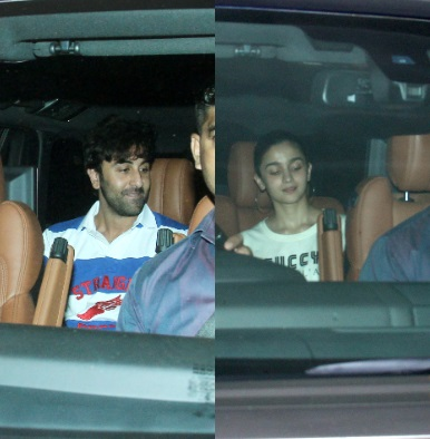 In Pics: Alia Bhatt and Ranbir Kapoor spend time with KJo's twins Roohi and Yash