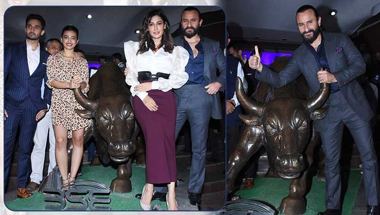 'Baazaar' trailer launch: Saif, Radhika and Chitrangda at Bombay Stock Exchange